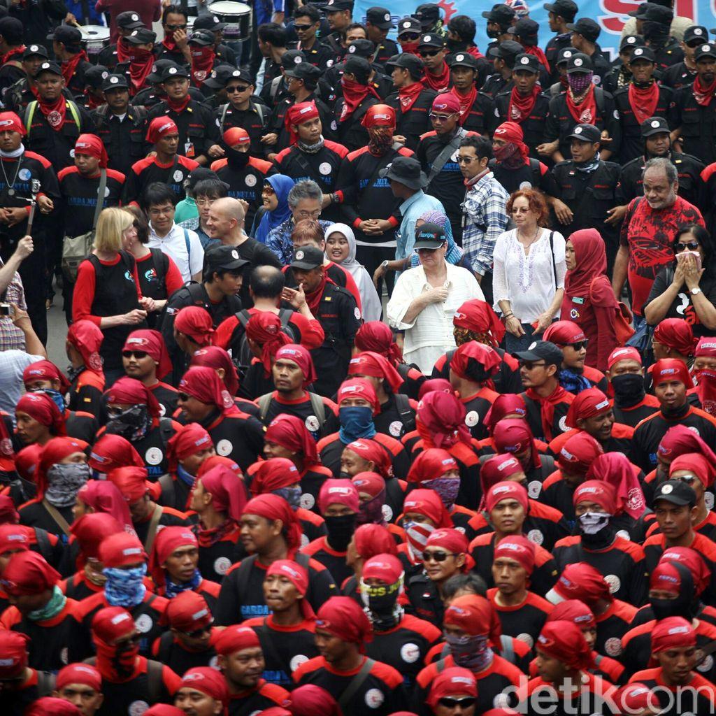 Tak Boleh Lintasi Area CFD, Ini Rute Untuk Massa Buruh