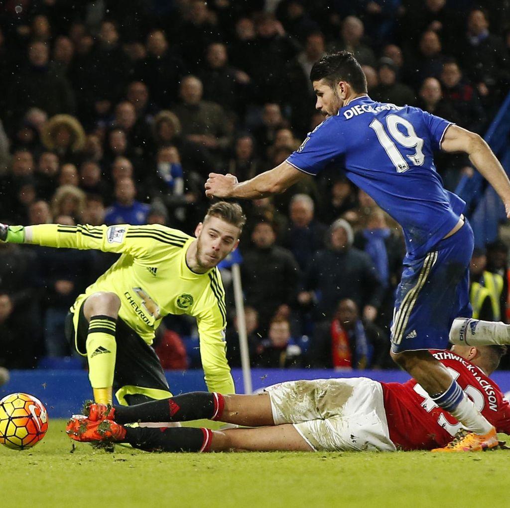 Costa Bikin Gol di Injury Time, Chelsea-MU Berakhir 1-1