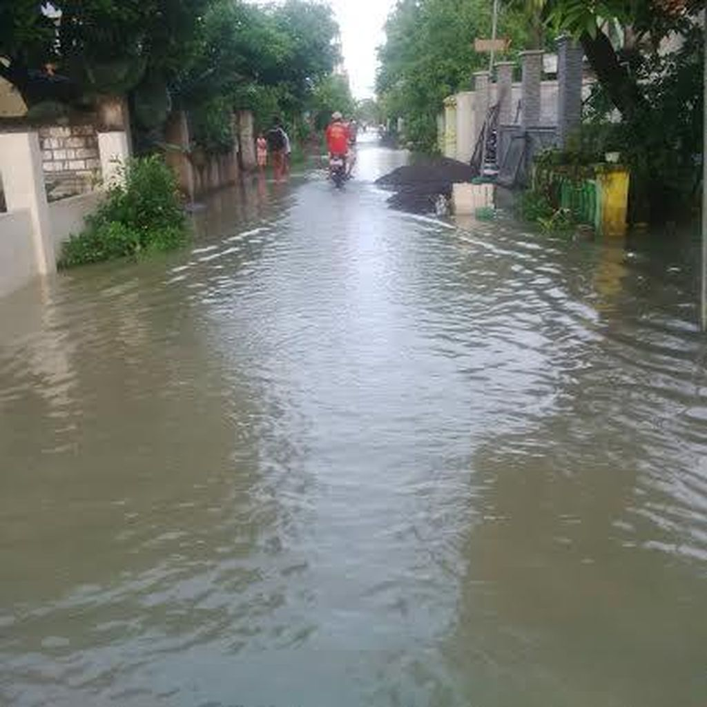 Tanggul Jebol di Dua Titik, Rumah dan Sawah Terendam Banjir