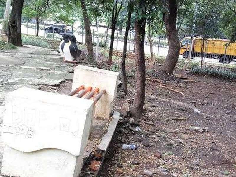 Ada Kondom di Taman Viaduct Klender, Ahok: Pasang Lampu Terang Agar Tak Mesum