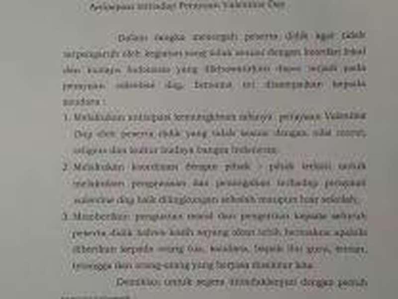 Dinas Pendidikan Surabaya Larang Siswa Rayakan Hari Valentine