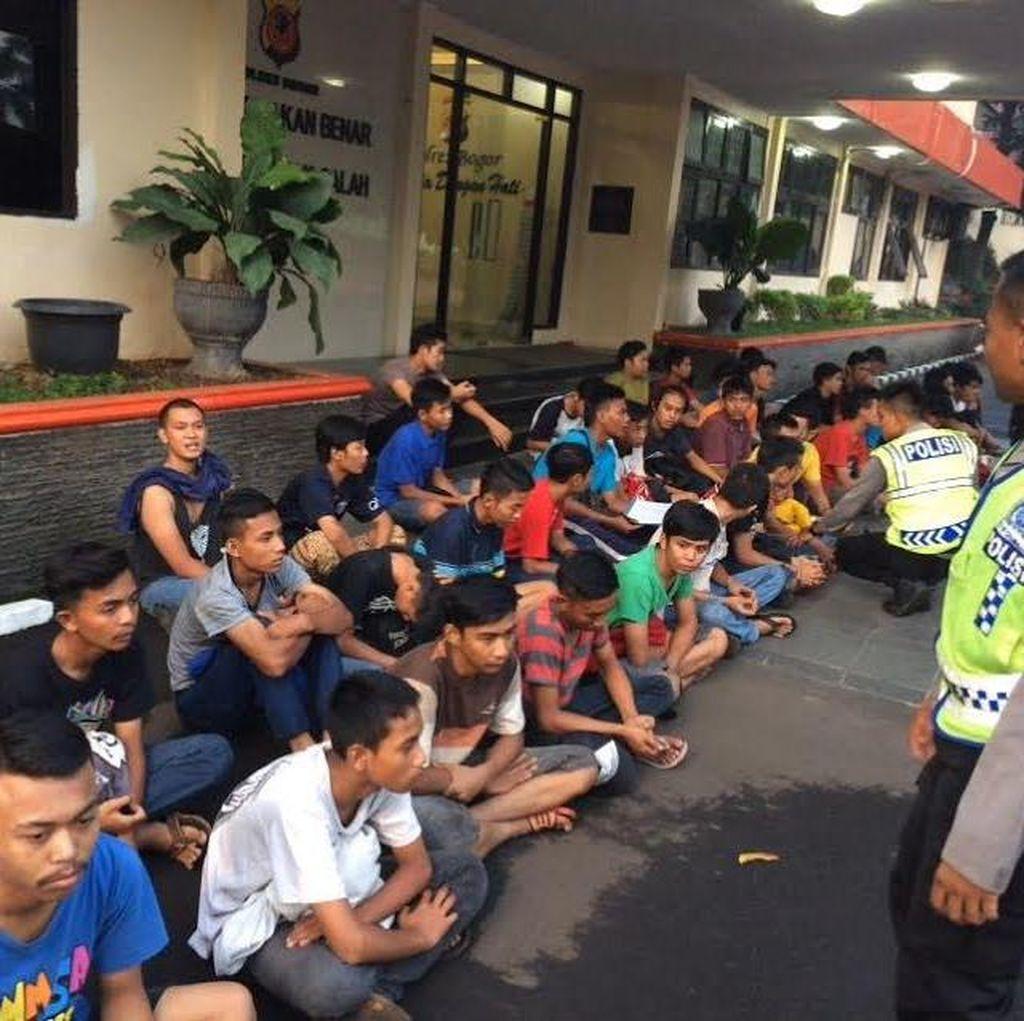 100 Remaja Tanggung Tukang Balap Liar dan Penontonnya di Bogor Diciduk Polisi