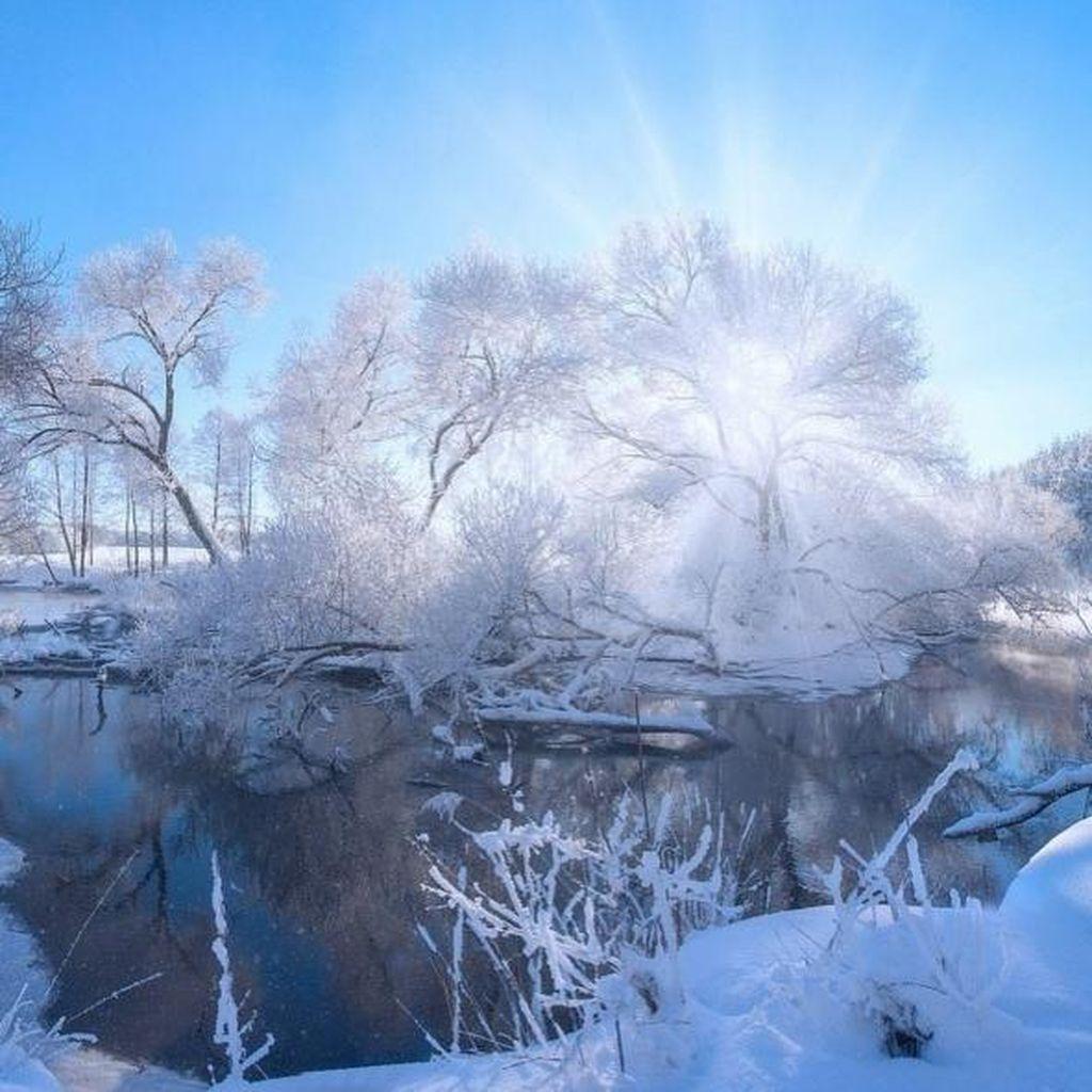 Keindahan Musim Dingin di Belarusia