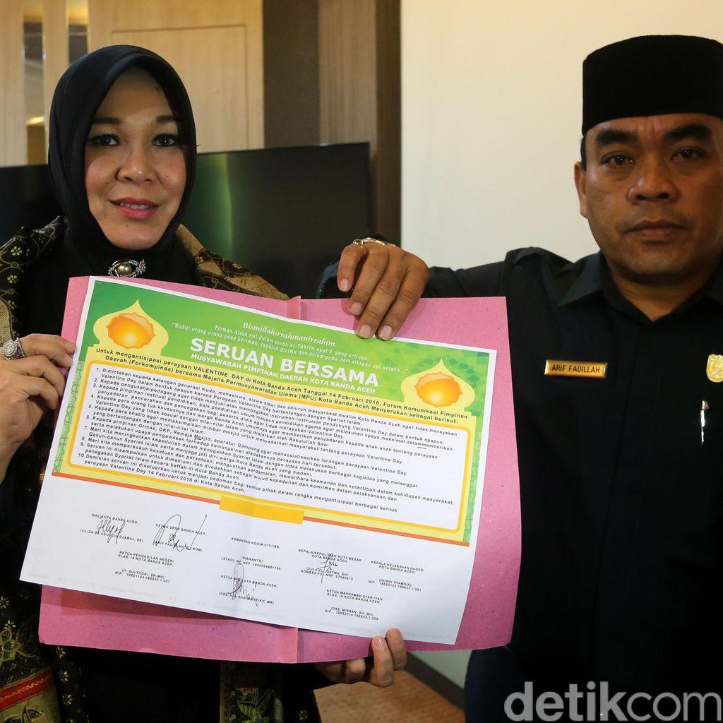 Perayaan Valentine Diharamkan di Banda Aceh, Suvenir Dilarang Dijual