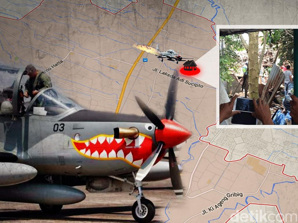 Kronologi Jatuhnya Pesawat Super Tucano di Malang