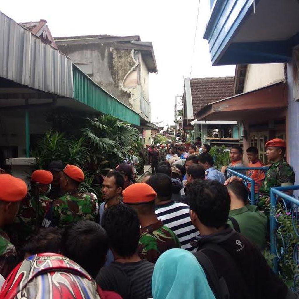 Begini Suasana di Lokasi Super Tucano Jatuh di Malang
