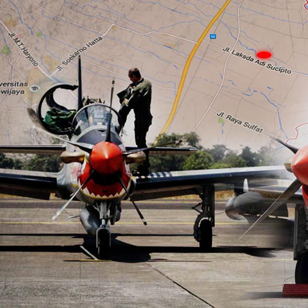 KSAU Sebut Pesawat Latih yang Jatuh di Malang Jenis Super Tucano