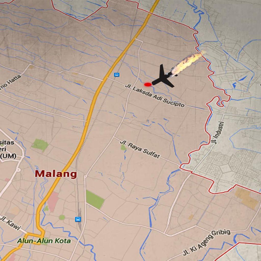 Warga: Pesawat Latih di Malang Jatuh Setelah Take Off