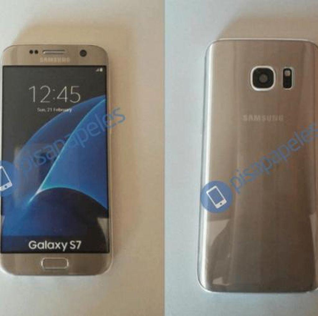 Begini Tampang Galaxy S7 dengan Kelir Emas