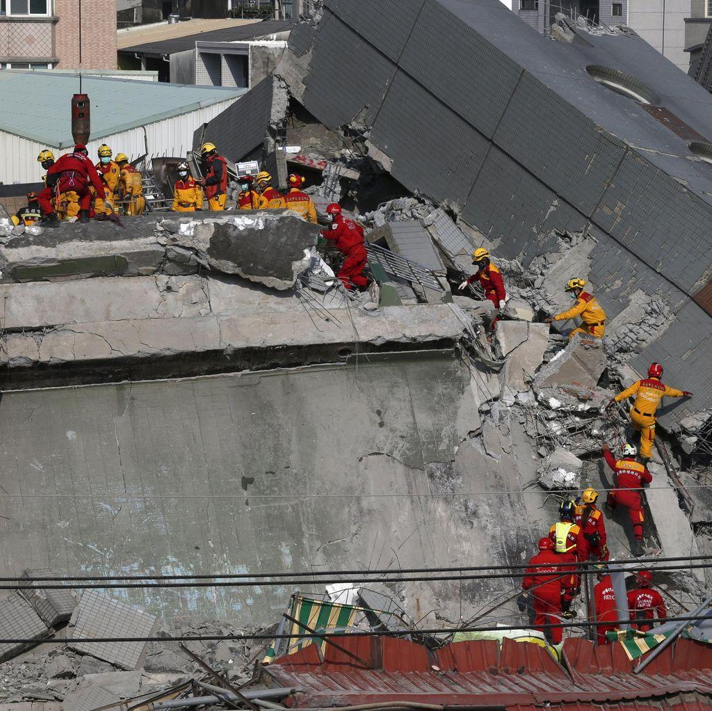 Korban Tewas Gempa Taiwan 94 Orang, 30 Orang Masih Tertimpa Reruntuhan