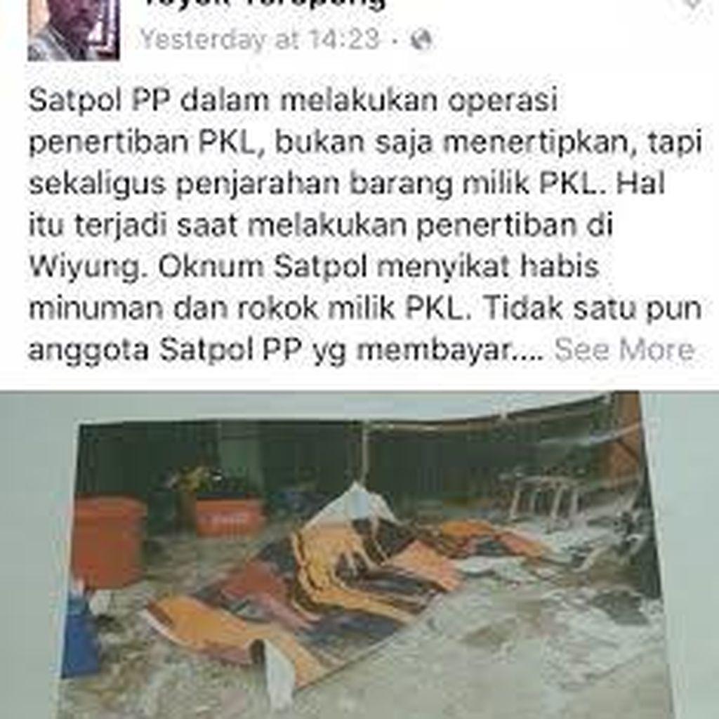 Difitnah di Facebook, Satpol PP akan Laporkan Akun YR ke Polisi
