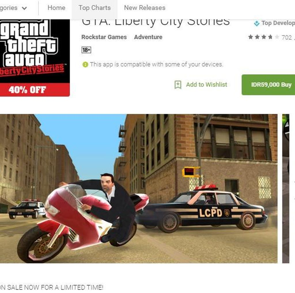 Setelah iOS, GTA: Liberty City Stories Hadir di Android