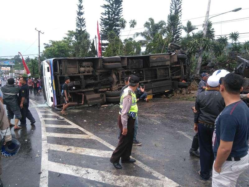 Ini Identitas Korban Kecelakaan Bus Pariwisata di Puncak