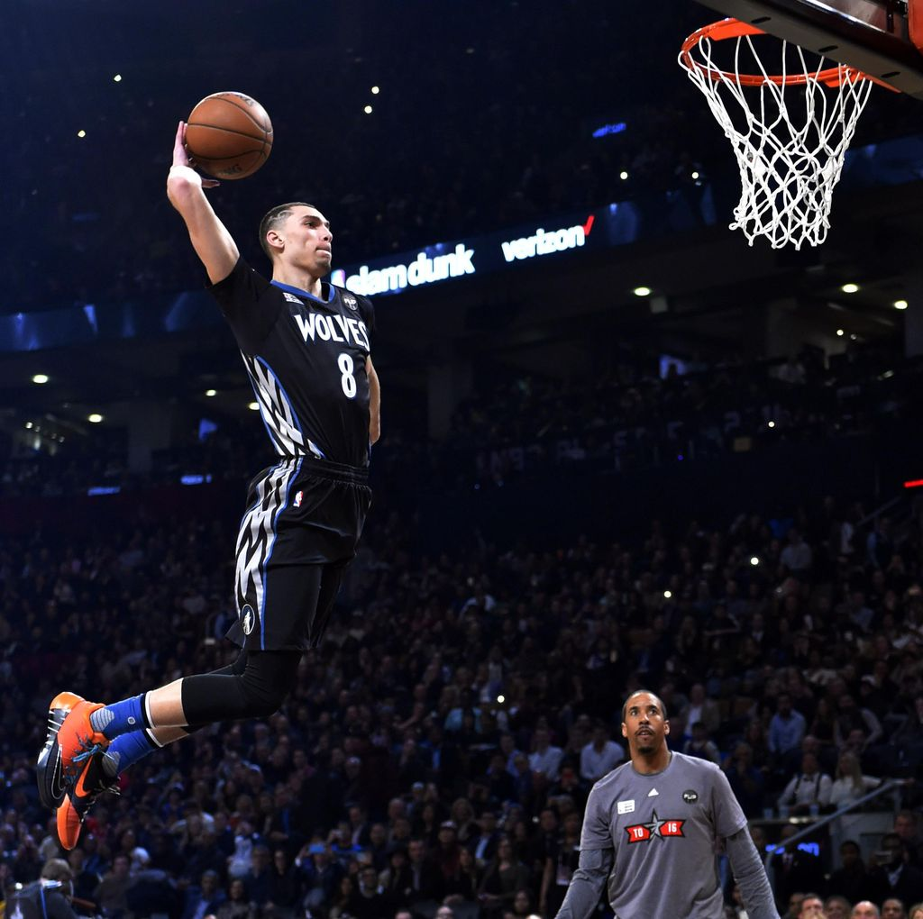 Aksi Slam Dunk dan 3-Point Contest NBA All Star
