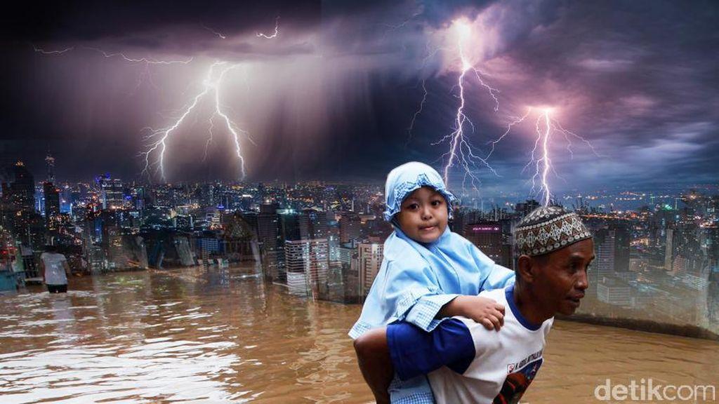 BMKG: Hujan Lebat Disertai Petir Diprediksi Hingga Pukul 22.00 WIB