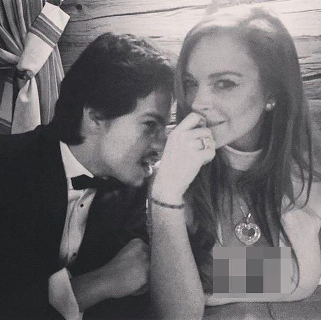 Berseteru dengan Tunangan, Lindsay Lohan Tinggalkan Rumah