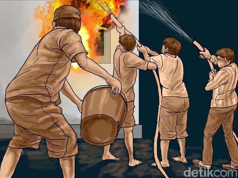 Gudang Mebel Terbakar di Jakarta Barat
