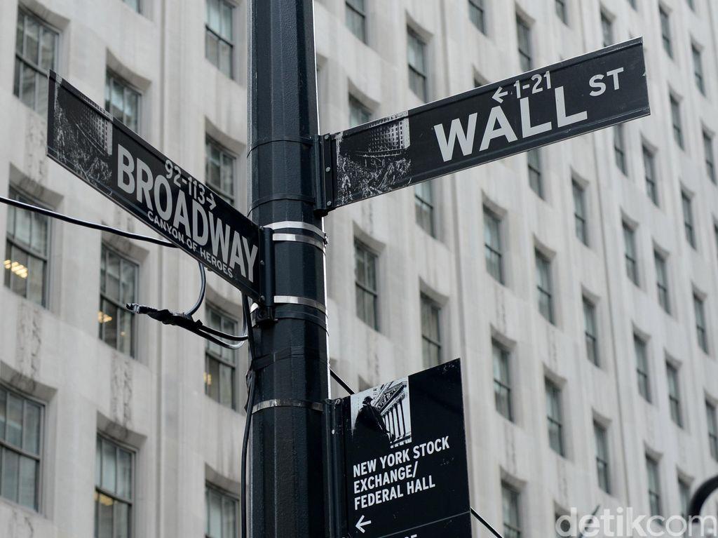 Wall Street Negatif di Awal Pekan