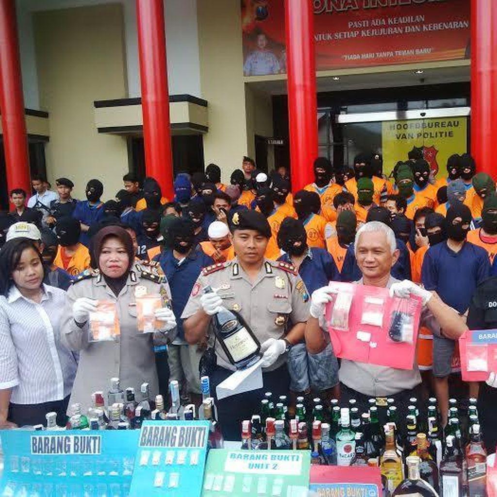 190 Tersangka Narkoba Diamankan Operasi Bersinar Polrestabes Surabaya