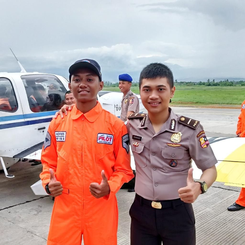 Kisah Ipda Arly, Polisi Udara Lulusan Terbaik Sekolah Pilot di Banyuwangi