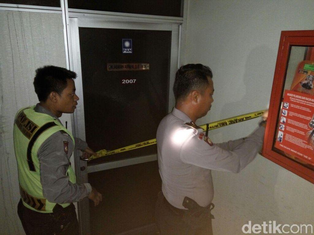 Ruang yang Terbakar di Lantai 20 Gedung DPR Dipasangi Garis Polisi