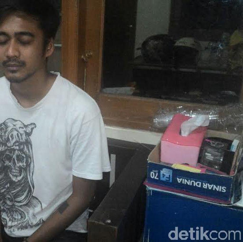 Tanam 2 Pot Ganja di Loteng, Ibeng Ditangkap Polisi