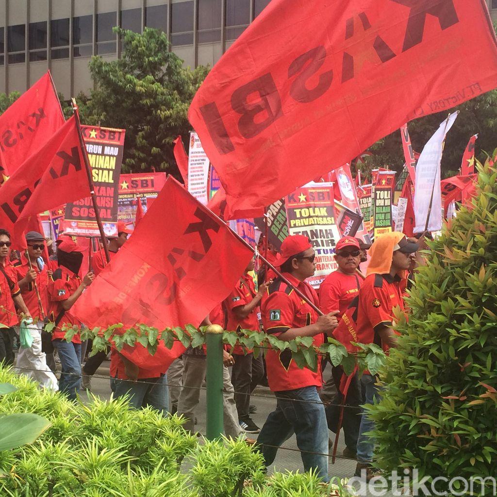 Ini Pengalihan Arus TransJ Koridor 1 Imbas dari Pergerakan Buruh ke GBK