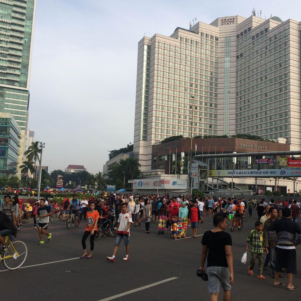 Polisi Apel May Day, Warga Pagi ini Tetap Asyik Joging di CFD