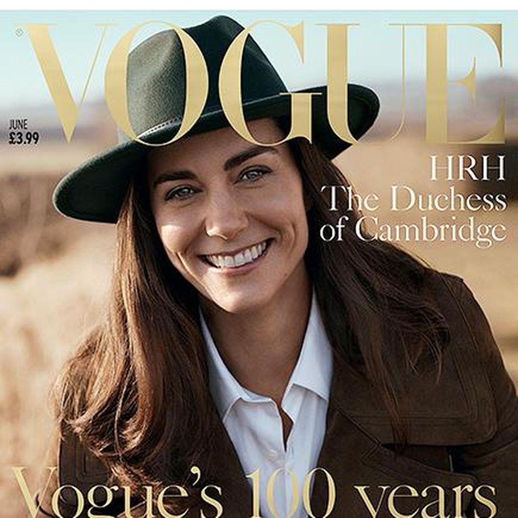 Tampil Natural di Vogue, Kerutan Wajah Kate Middleton Terlihat Jelas