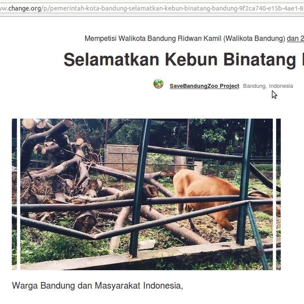 Muncul Petisi Penyelamatan Kebun Binatang Bandung
