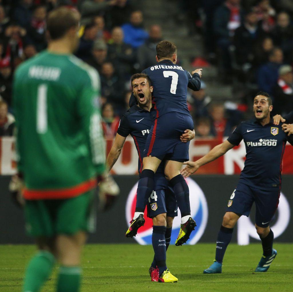 Atletico Lolos ke Final Kendati Dikalahkan Bayern