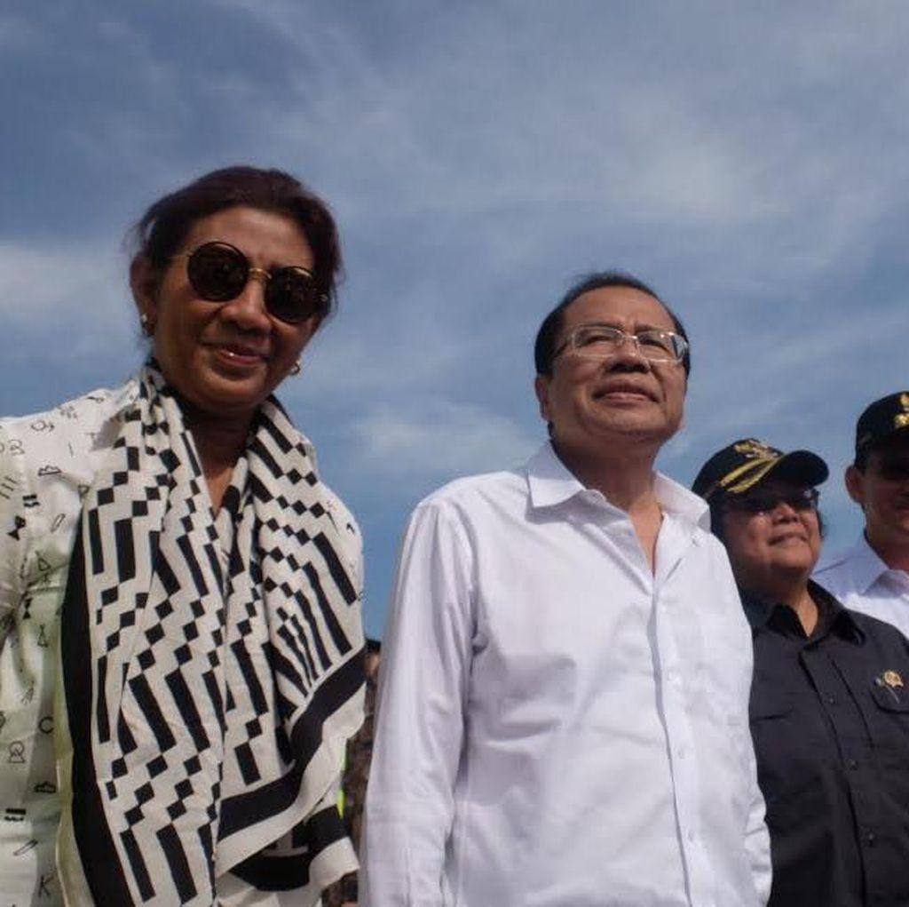 Rizal Ramli, Menteri Susi, Menteri Siti dan Ahok Jejakkan Kaki di Pulau Reklamasi
