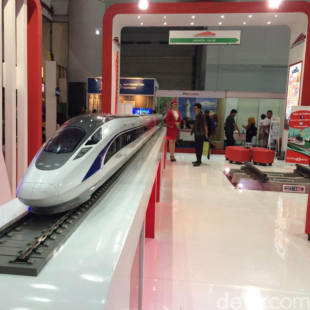 Proyek Kereta Cepat JKT-BDG Dipamerkan di Kemayoran