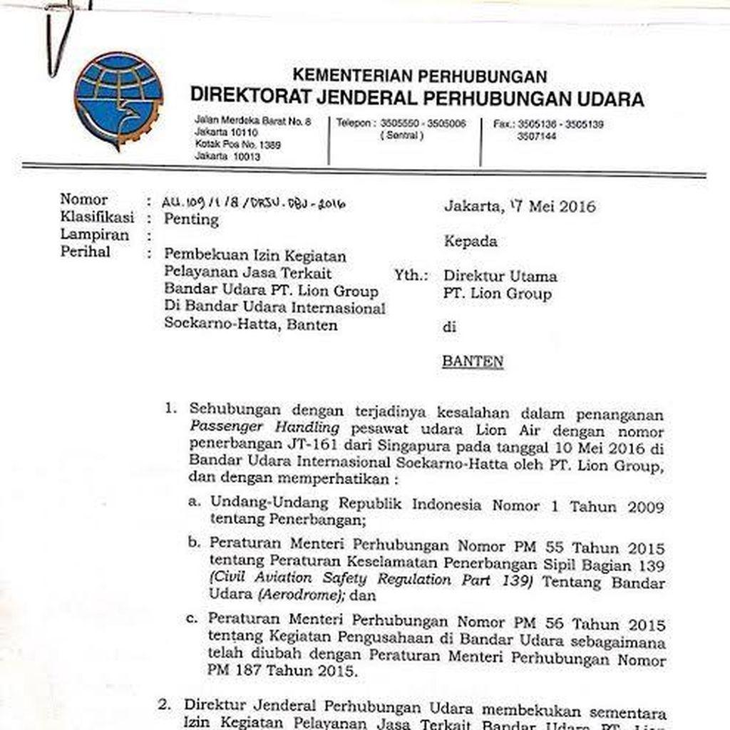 Maju-Mundur Sanksi Kemenhub untuk Lion Air dan AirAsia