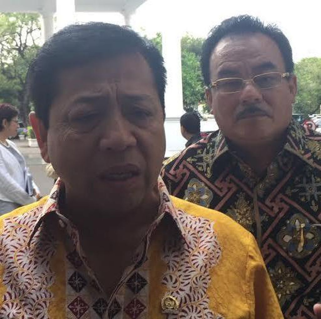 Ical, Novanto Dkk Temui Jokowi di Istana