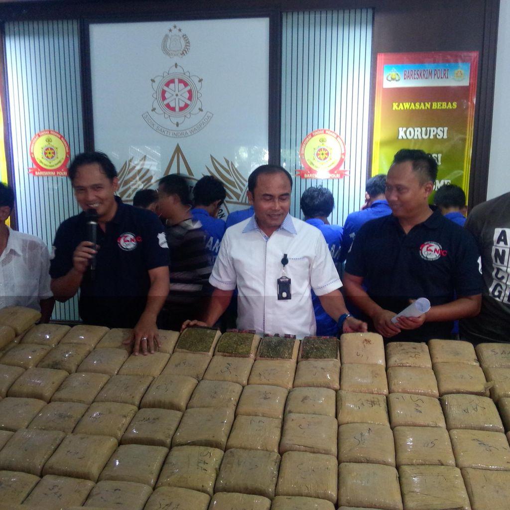 Sebelum Ditangkap di Subang, Pengedar Ganja 1 Ton Sudah Sering Beraksi
