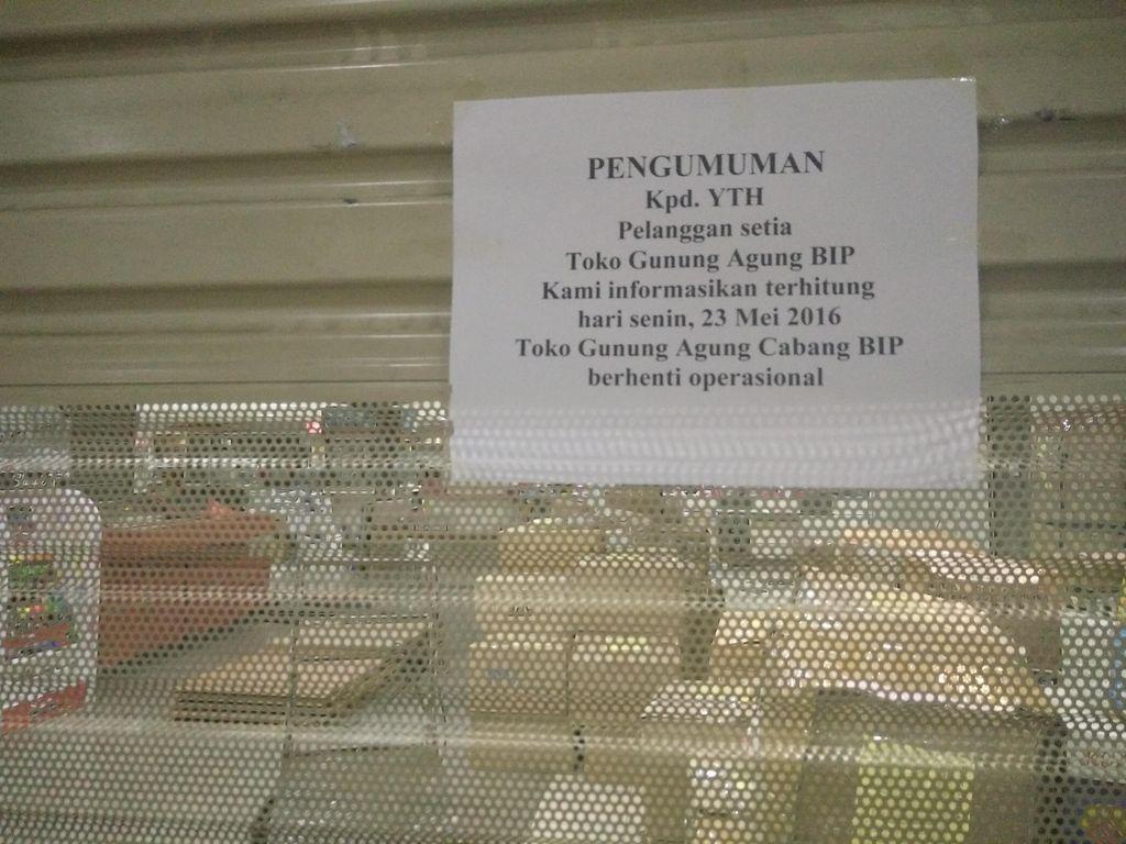 Toko Buku Legendaris Gunung Agung di Bandung Indah Plaza Berhenti Beroperasi