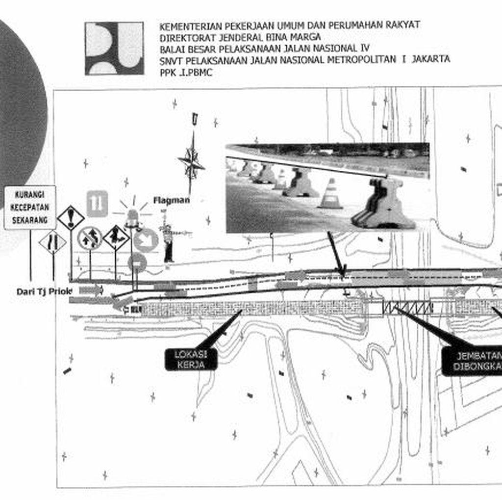 Akses Sisi Selatan Jembatan Blencong Jakut Ditutup Hingga Akhir 2016