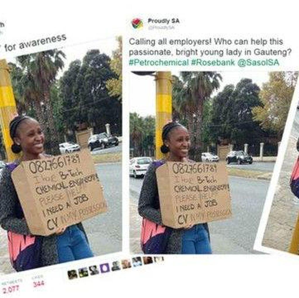 Kaum Muda Johannesburg Mencari Kerja di Pinggir Jalan