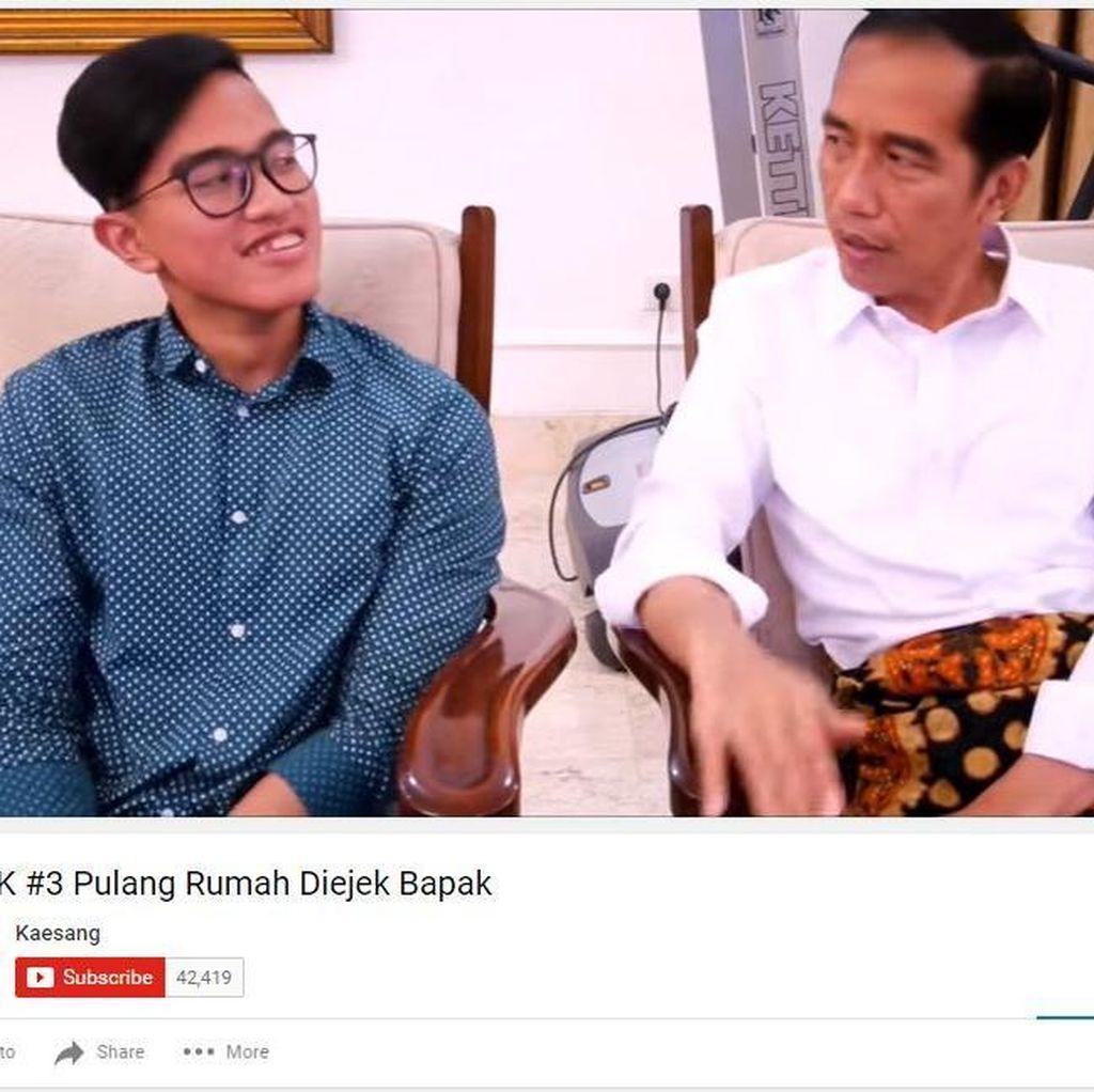 Saat Jokowi Ikut nge-Vlog Bareng Kaesang di Youtube