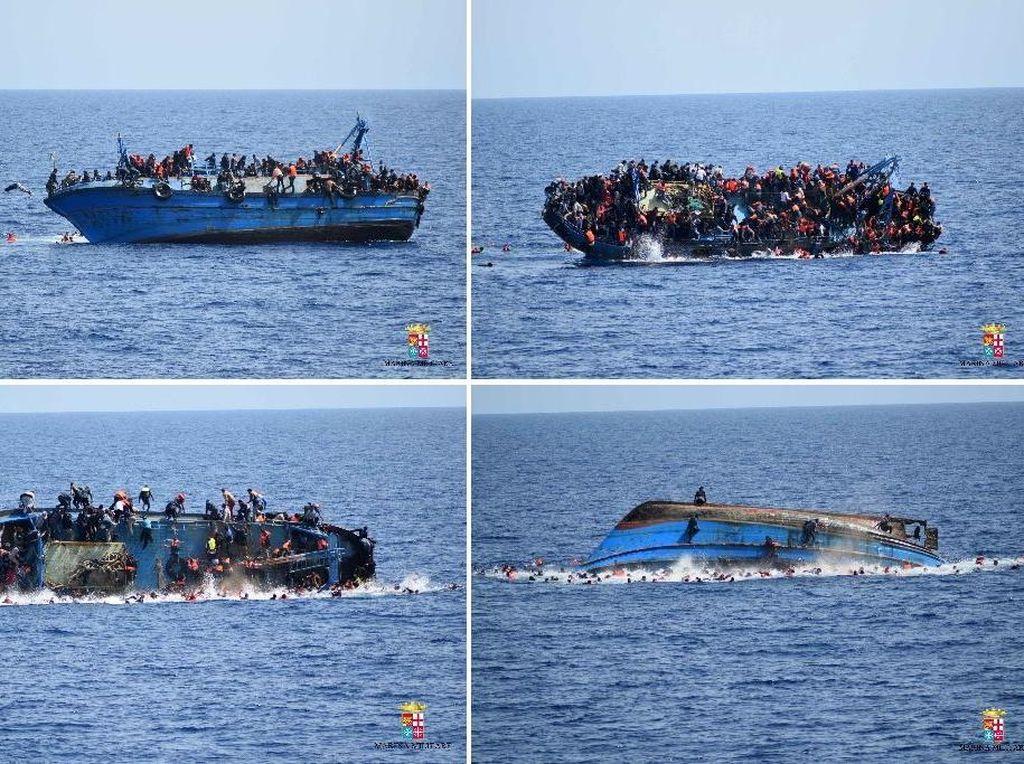 Kapal Imigran Libya Terbalik di Laut Mediterania, 100 Orang Hilang