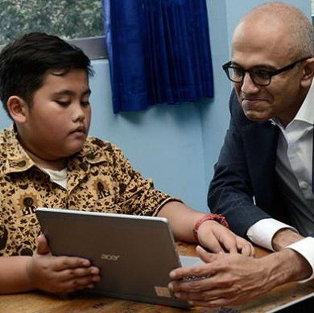 CEO Microsoft Sambangi SMP Muhammadiyah 9 Jakarta