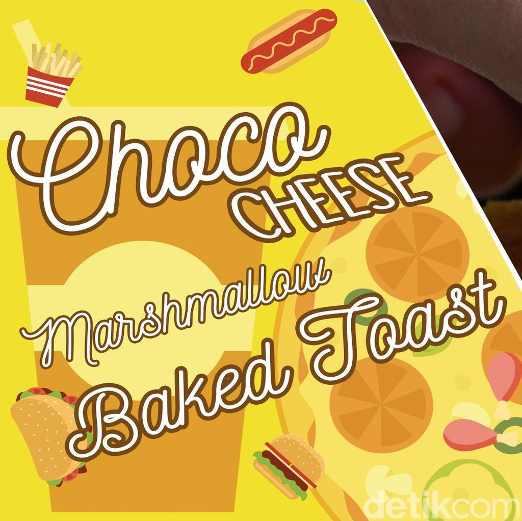 Choco Cheese Marshmallow Baked Toast