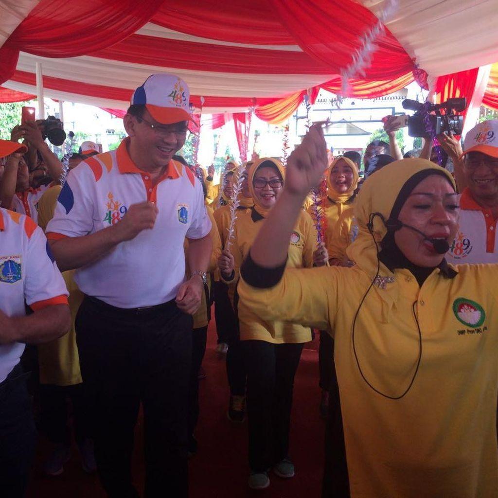 Ahok Sambangi Setu Babakan Untuk Pencanangan HUT ke-489 Jakarta