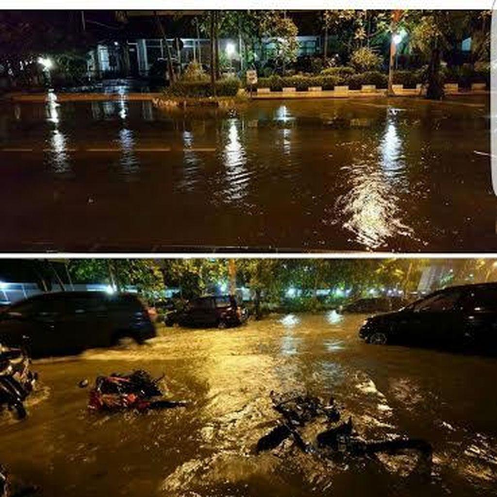 Kurang dari Dua Jam, Genangan Air di Surabaya Surut