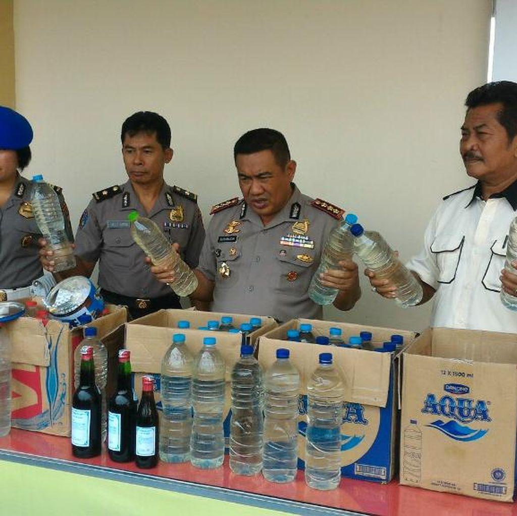 Dalam Semalam Polisi di Semarang Sita Ribuan Liter Minuman Keras