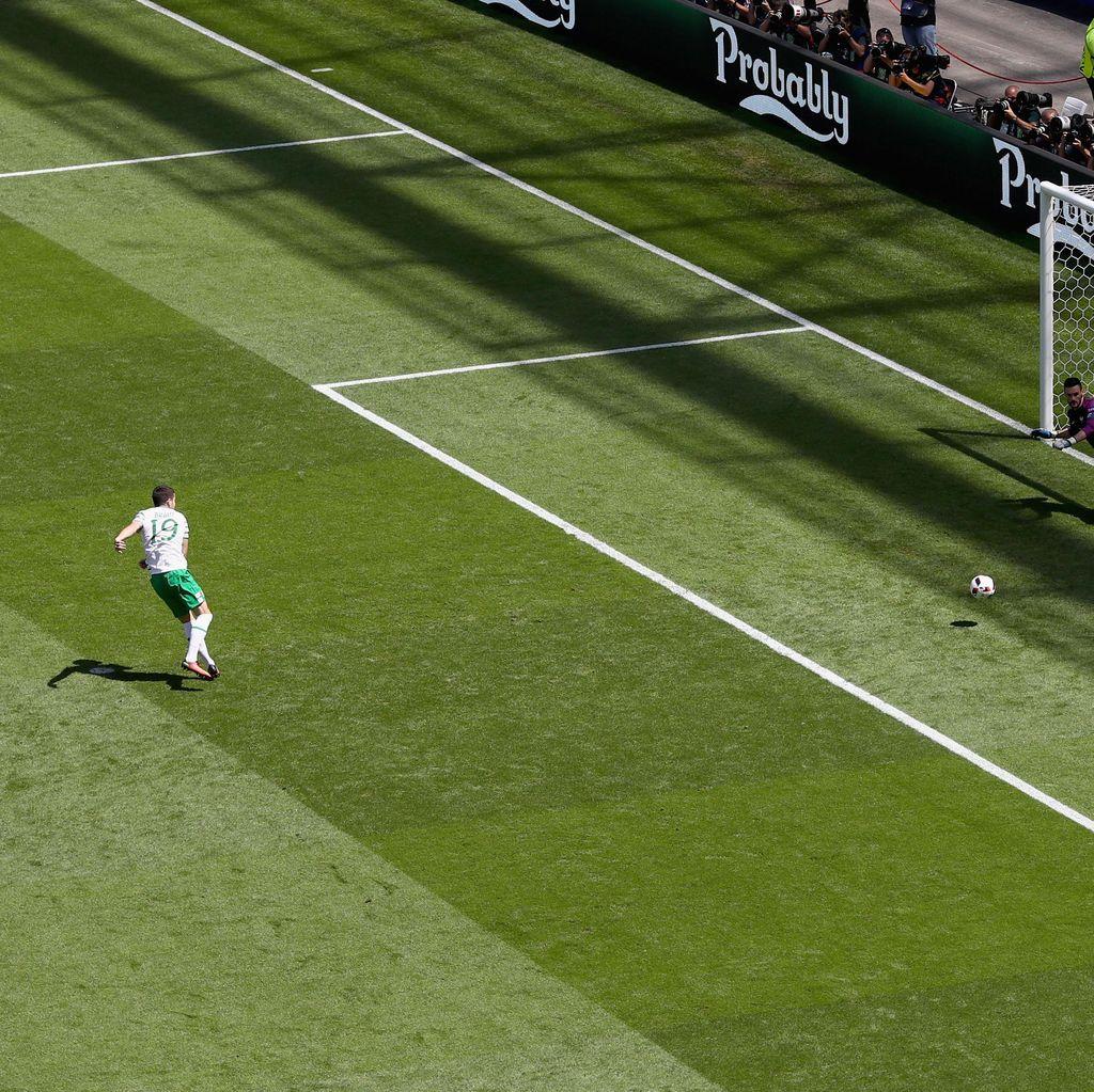 Gol Penalti Irlandia Tercepat di Piala Eropa