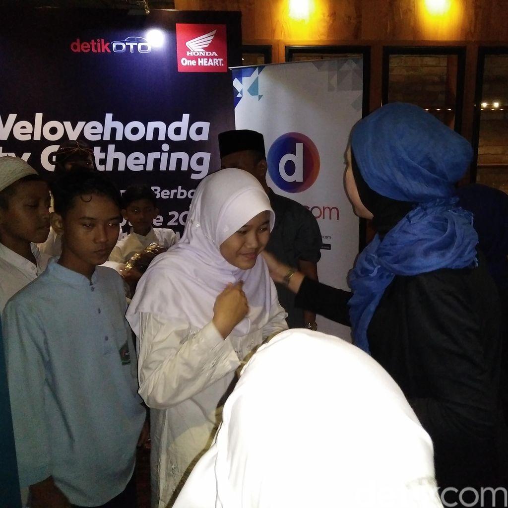 Honda dan Komunitas Welovehonda Berbagi Bersama Anak Yatim
