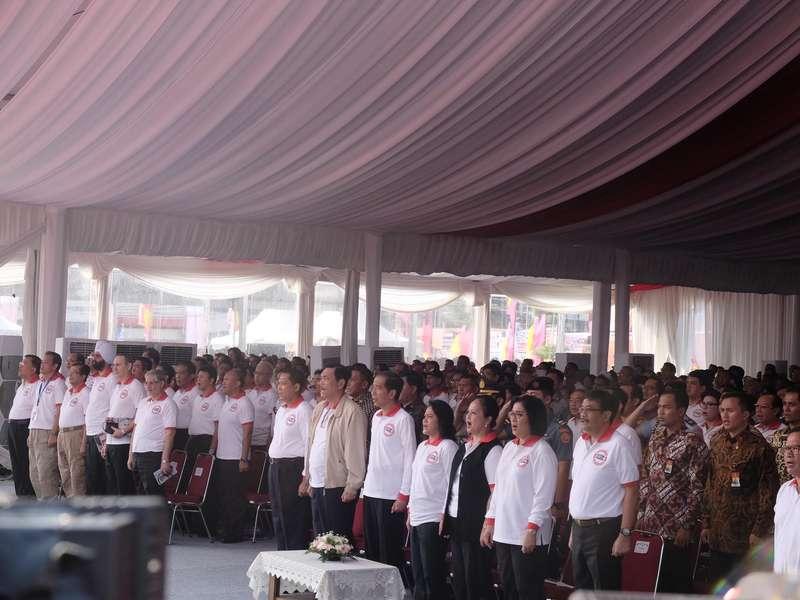 Presiden Jokowi Hadiri Peringatan Hari Anti Narkoba Internasional