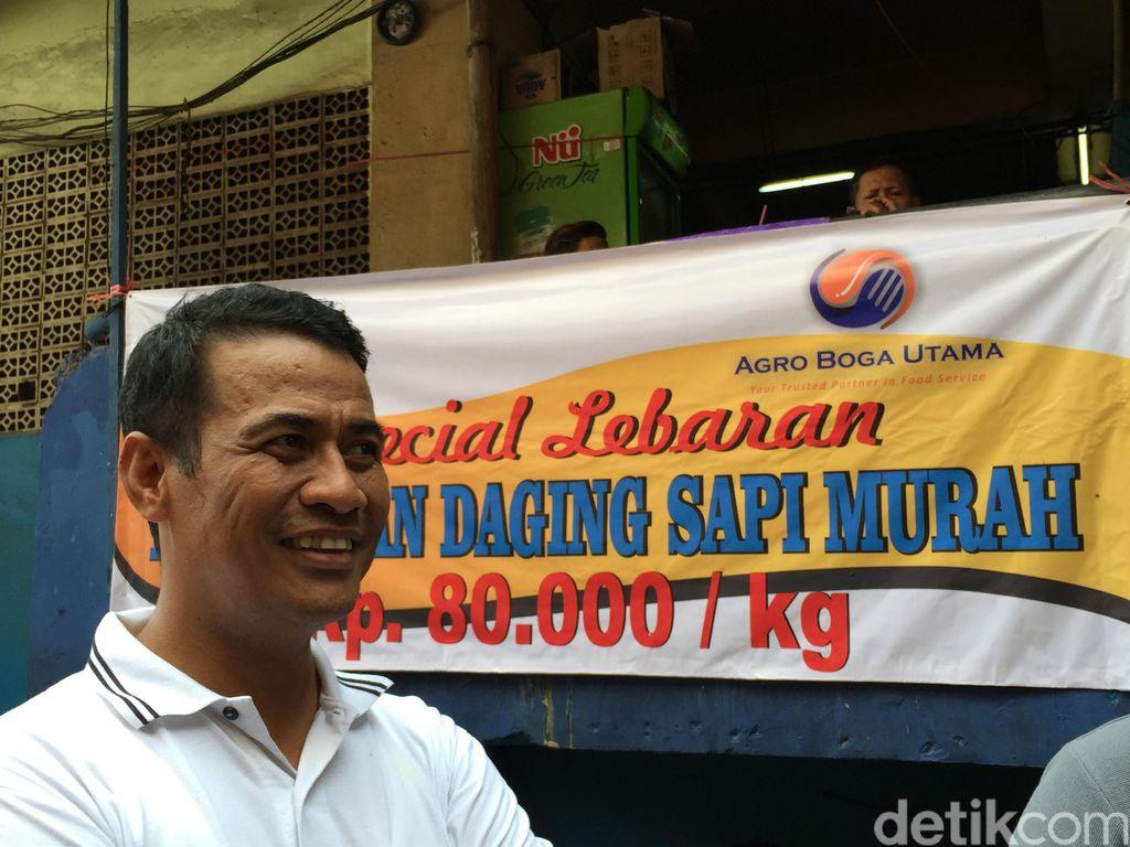 Blusukan di Pasar Minggu, Mentan: Harga Daging Sudah Rp 80.000/kg